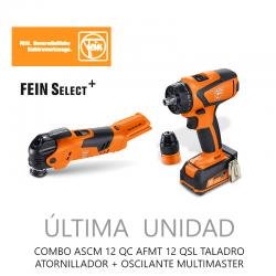 COMBO ASCM 12 QC AFMT 12 QSL TALADRO ATORNILLADOR + OSCILANTE