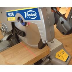 Equipada con láser de precisión para facilitar el corte.