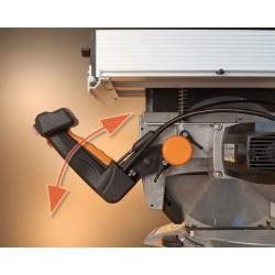 La empuñadura es regulable en altura, lo que permite adaptar su posición a la más adecuada para cada tipo de trabajo.