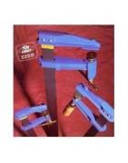 accesorios maquinaria electro-portatil: aprietos sargentos para ensambles de maderas. tambores de cable electricos